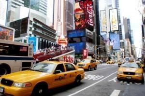 Такси на улицах Нью-Йорка