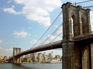 Фото Бруклинского моста, история моста, строительство, легенды