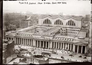 Пенсильванский железнодорожный вокзал в 1900-х годах, старое фото (Penn Station)