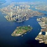 Вид на Нью-Йорк с высоты птичьего полёта