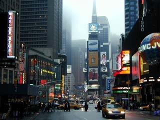 Площадь Таймс-сквер в пятом округе Манхэттена