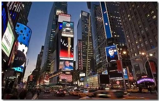 Площадь Times Square в Манхэттене (Нью-Йорк)