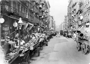 Улица Нью-Йорка в прошлом