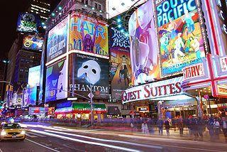 Реклама на площади Times Square