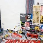 Улицы и небоскрёбы Нью-Йорка сделанные из конструктора