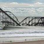 Все, что осталось от аттракциона через три дня после урагана «Сэнди» в Сисайд-Хайтс, штат Нью-Джерси, 1 ноября.