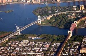 Два моста, район с высоты птичьего полёта