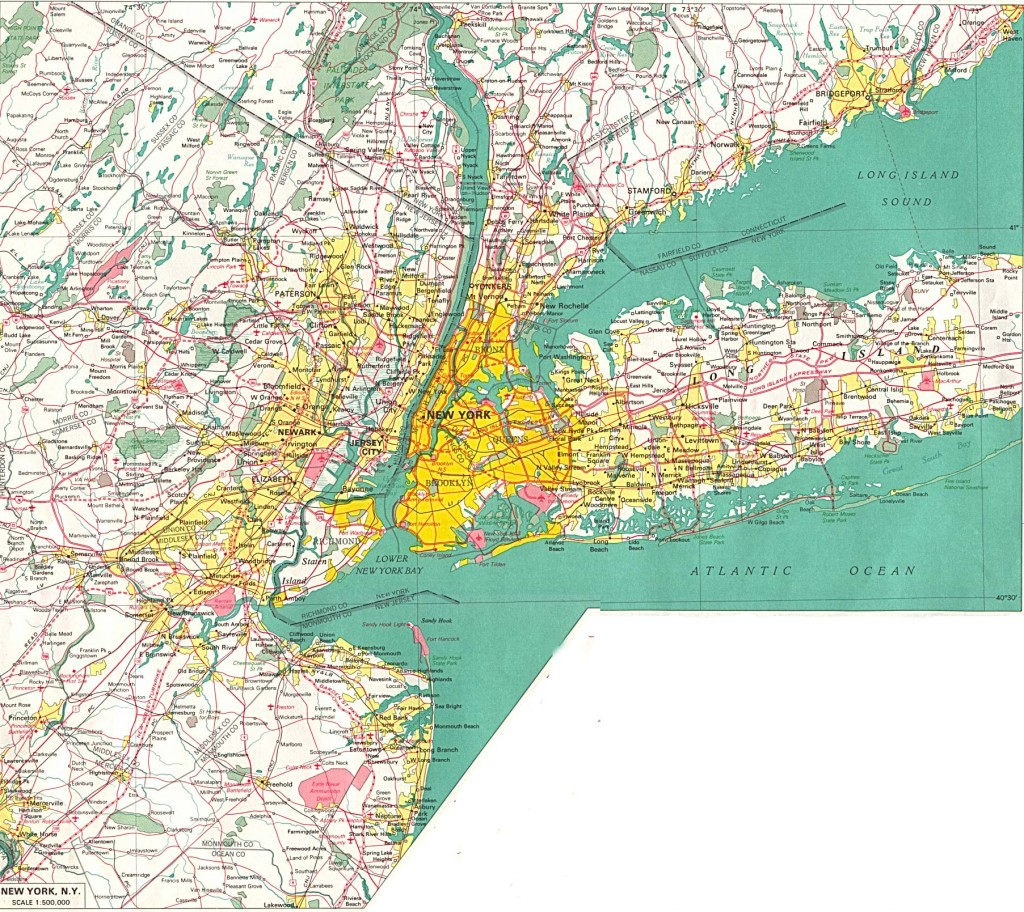 Подробная карта Нью-Йорка