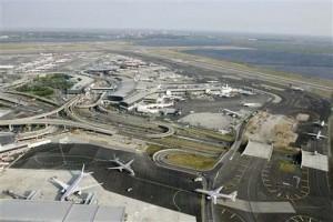 Вид на аэропорт имени Джона Кеннеди с высоты птичьего полёта