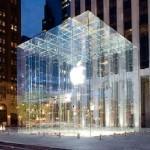 Магазин компании Apple в Нью-Йорке, в виде большого стеклянного куба