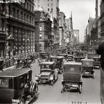 5 авеню в 1913 году, фотография сделана со второго этажа автобуса