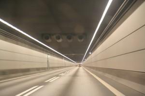Гудзонов тоннель или тоннель Холланда, фото внутри тонеля