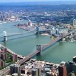Река Гудзон проходит через Манхэттен, фото