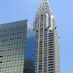 Крайслер билдинг на фоне неба в высоком качестве