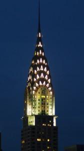Крайслер Билдинг Ночью, ночная фотография небоскрёба
