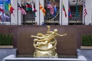 Статуя Прометея в Рокфеллерском центре