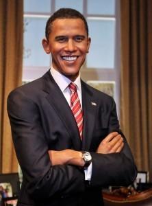 Восковая скульптура Барака Обамы в музее Мадам Тюссо